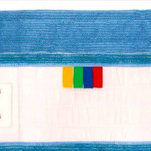 Frange Microfibre Classique Languettes et Poches Epaisse Bleu 40cm Archipropre Services